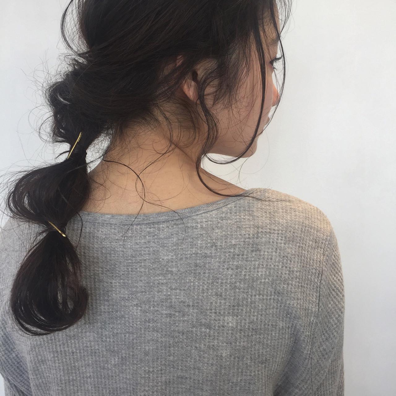 フェミニン ヘアアレンジ 簡単ヘアアレンジ ゆるふわ ヘアスタイルや髪型の写真・画像 | 佐々木拓巳 / GARDEN harajuku