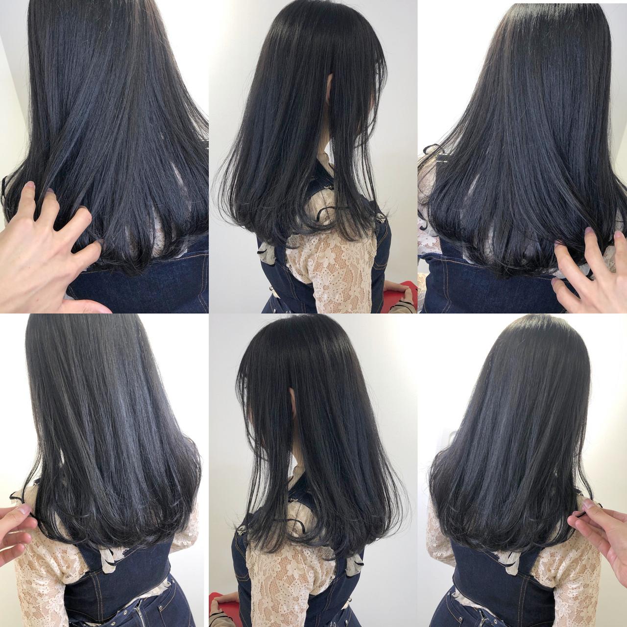 ロング ナチュラル 透明感カラー 暗髪ヘアスタイルや髪型の写真・画像
