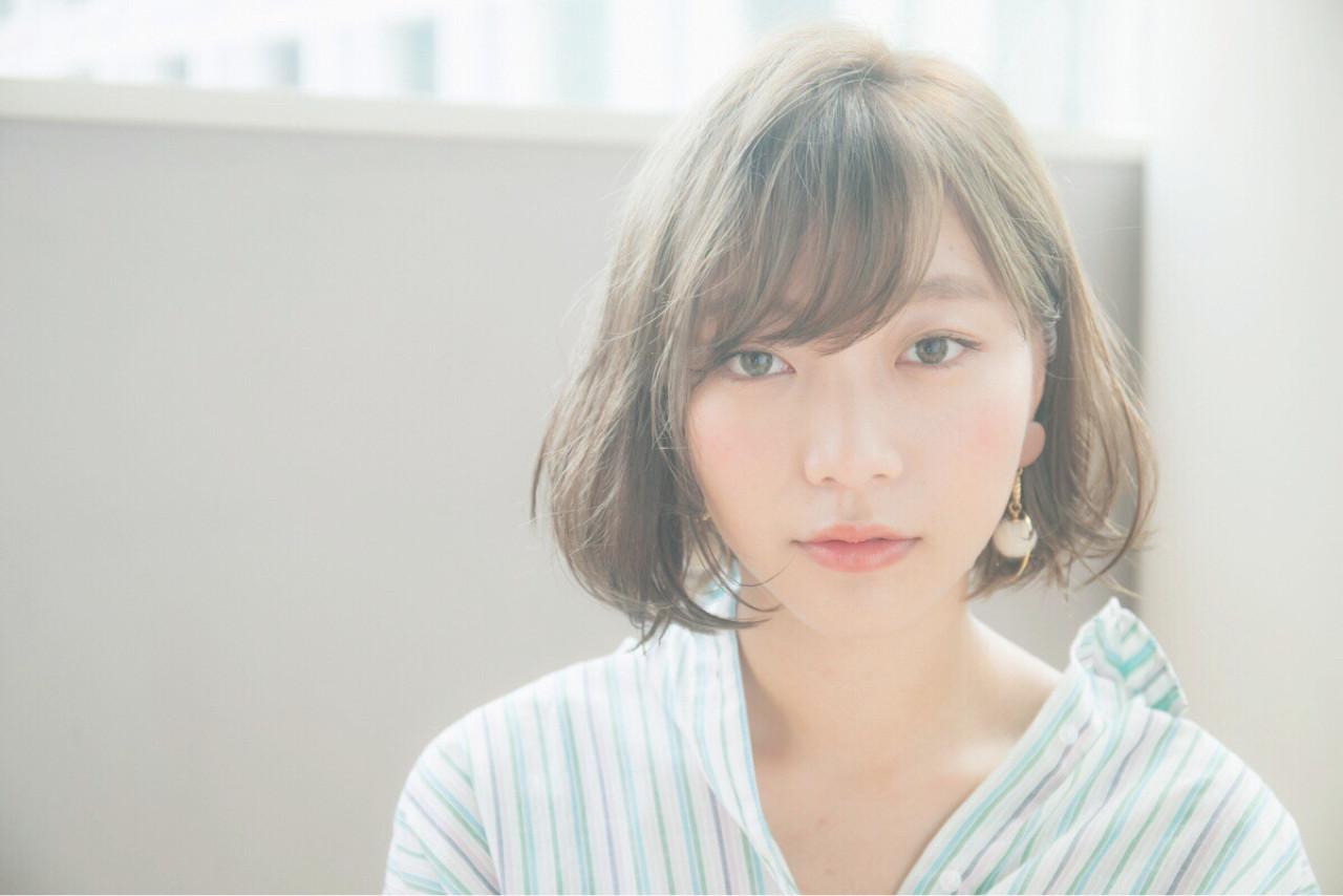 ロブ ミディアム 外ハネ ヘアアレンジ ヘアスタイルや髪型の写真・画像 | Daisuke Tomiyama / drive  for  garden