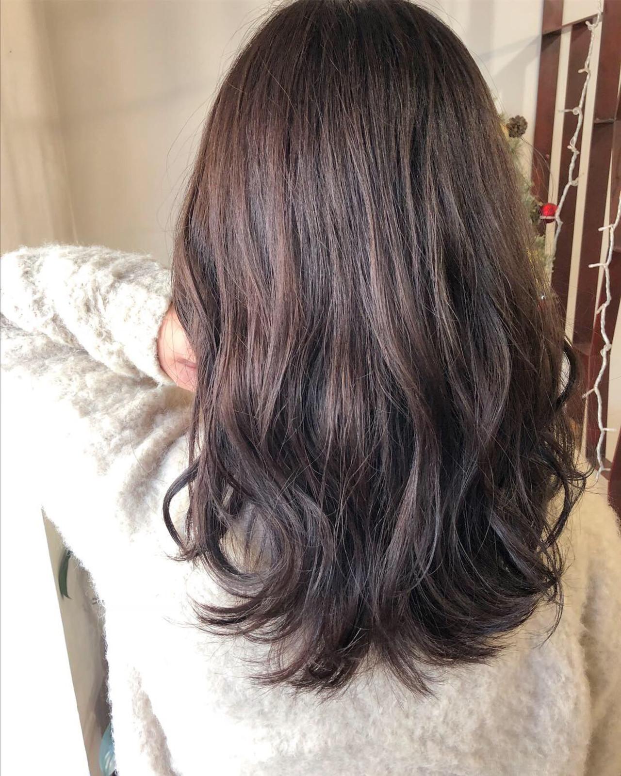 セミロング 女子力 デート 前髪あり ヘアスタイルや髪型の写真・画像 | L'atelier Content / L'atelier Content