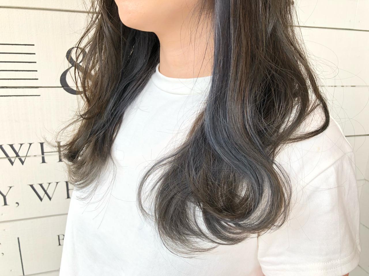切りっぱなし セミロング ストリート ボブヘアスタイルや髪型の写真・画像