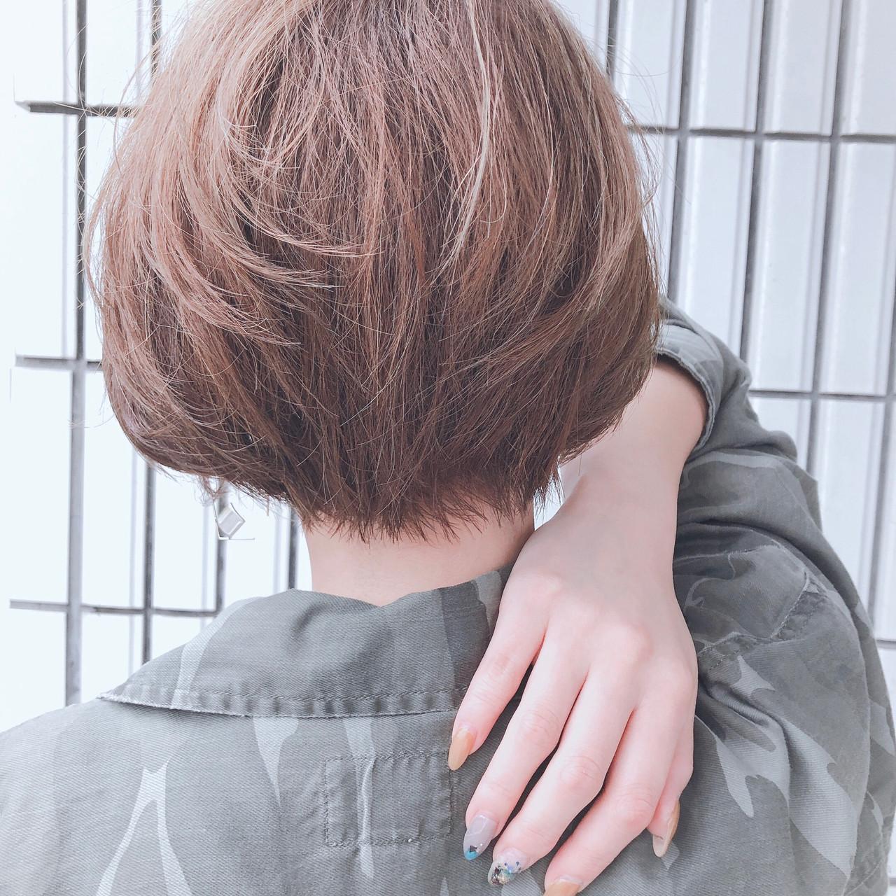 マッシュショート エレガント ショート 小顔ショート ヘアスタイルや髪型の写真・画像 | 北川友理 / unsung