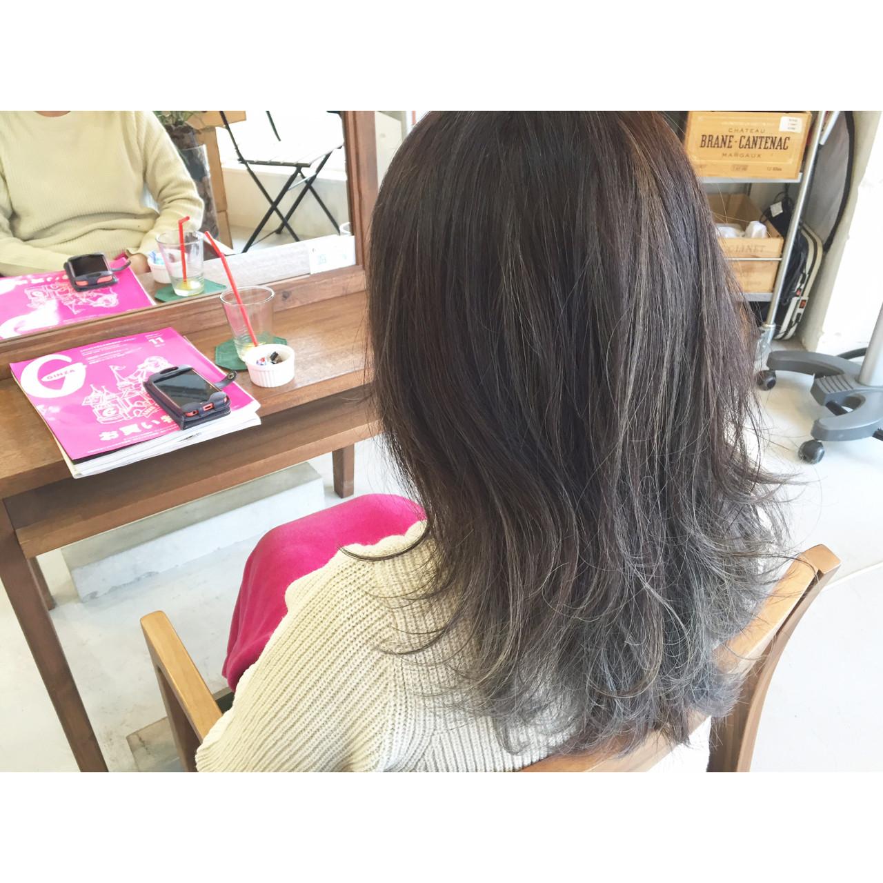 ミディアム 外国人風 グラデーションカラー ストリート ヘアスタイルや髪型の写真・画像 | 原木翔太 / lufun hair design  ルファン