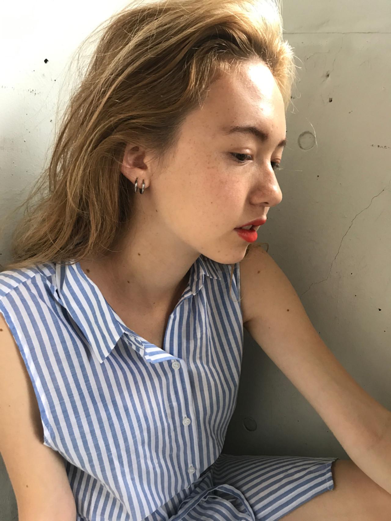 透明感 上品 ハイトーン 抜け感 ヘアスタイルや髪型の写真・画像 | 小西敬二郎 / Heartim