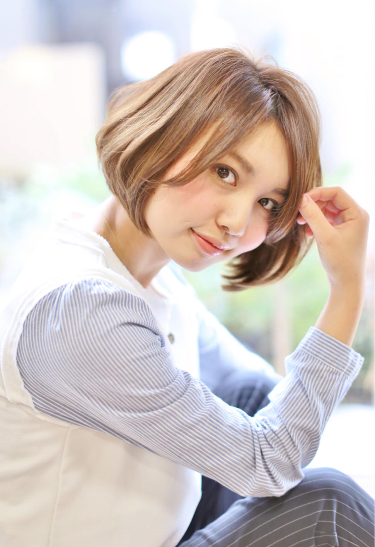 ショートボブ 大人女子 ハイトーン モード ヘアスタイルや髪型の写真・画像 | Taku Yokose (Digz hair) / Digz hair