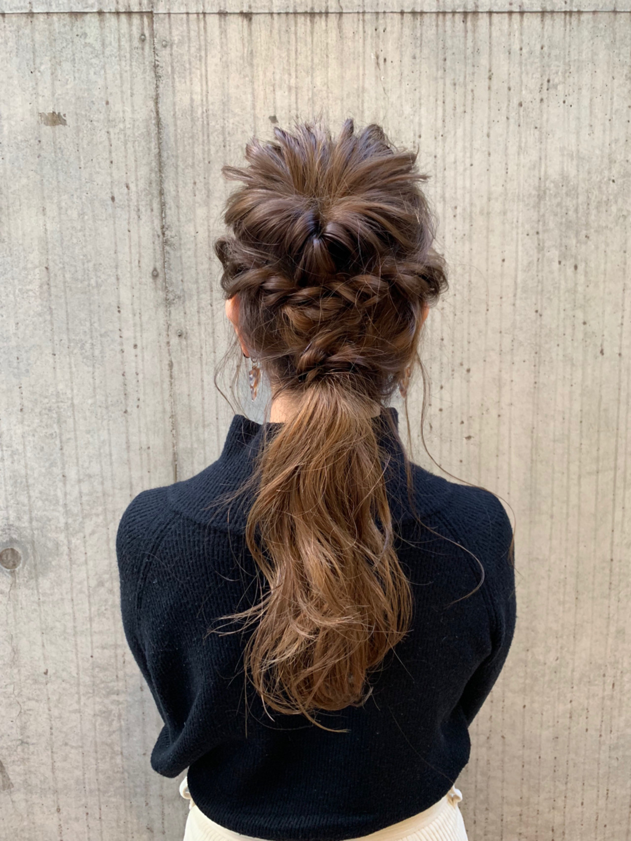 ロング 編み込み デート 結婚式ヘアスタイルや髪型の写真・画像