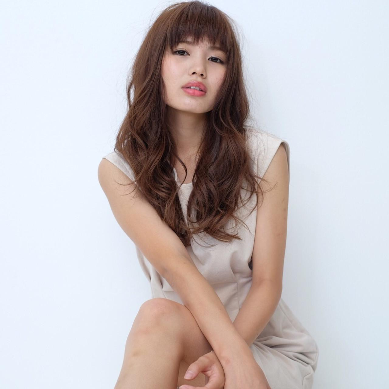 前髪あり モテ髪 愛され コンサバ ヘアスタイルや髪型の写真・画像 | Fujimoto Kazuhito / hair resort Lino