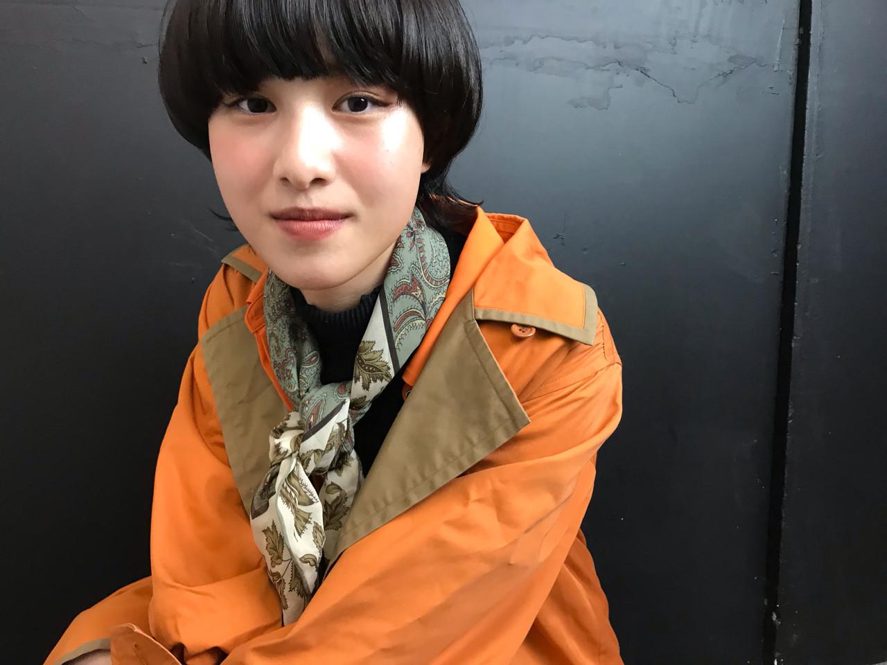 マッシュ 色気 ウルフカット ストリート ヘアスタイルや髪型の写真・画像 | natsuki / seek