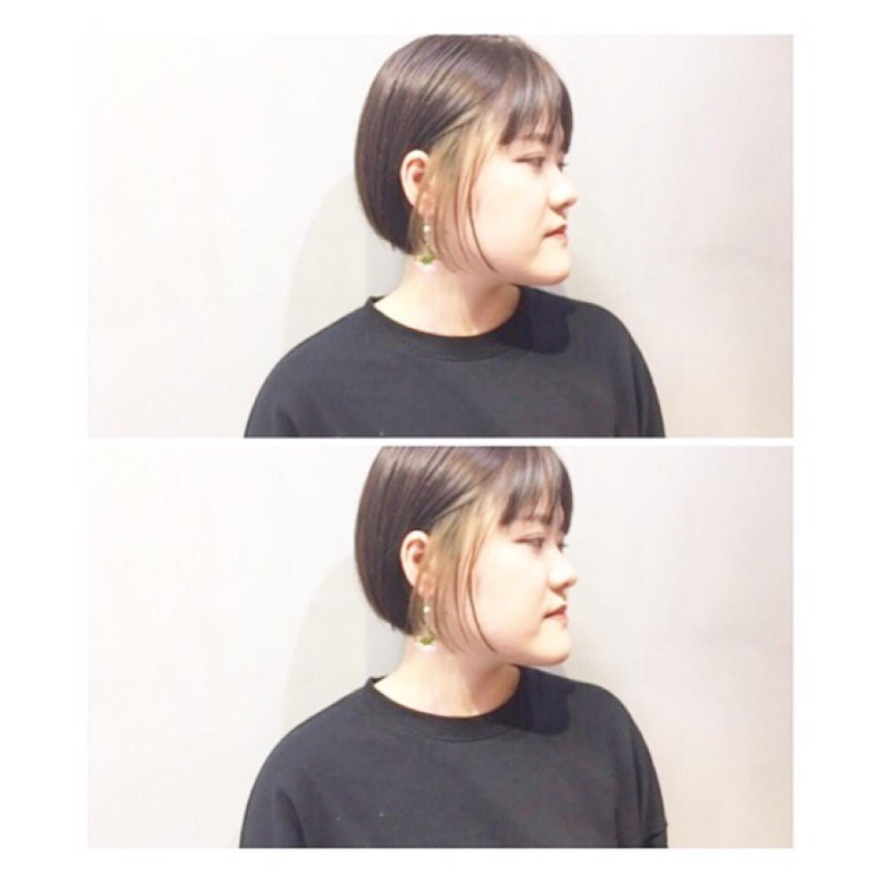 ナチュラル グレージュ ショート マッシュ ヘアスタイルや髪型の写真・画像 | COM PASS 太一 / COM PASS