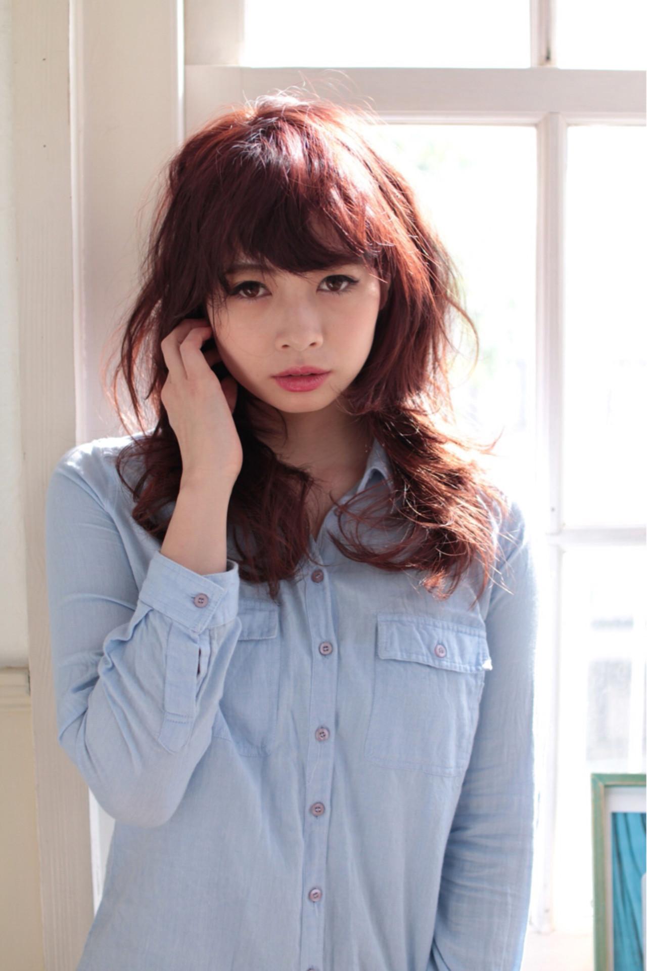 ストリート 外国人風 ウェーブ モーブ ヘアスタイルや髪型の写真・画像 | 亀山 直紀 / Ash 二子玉川