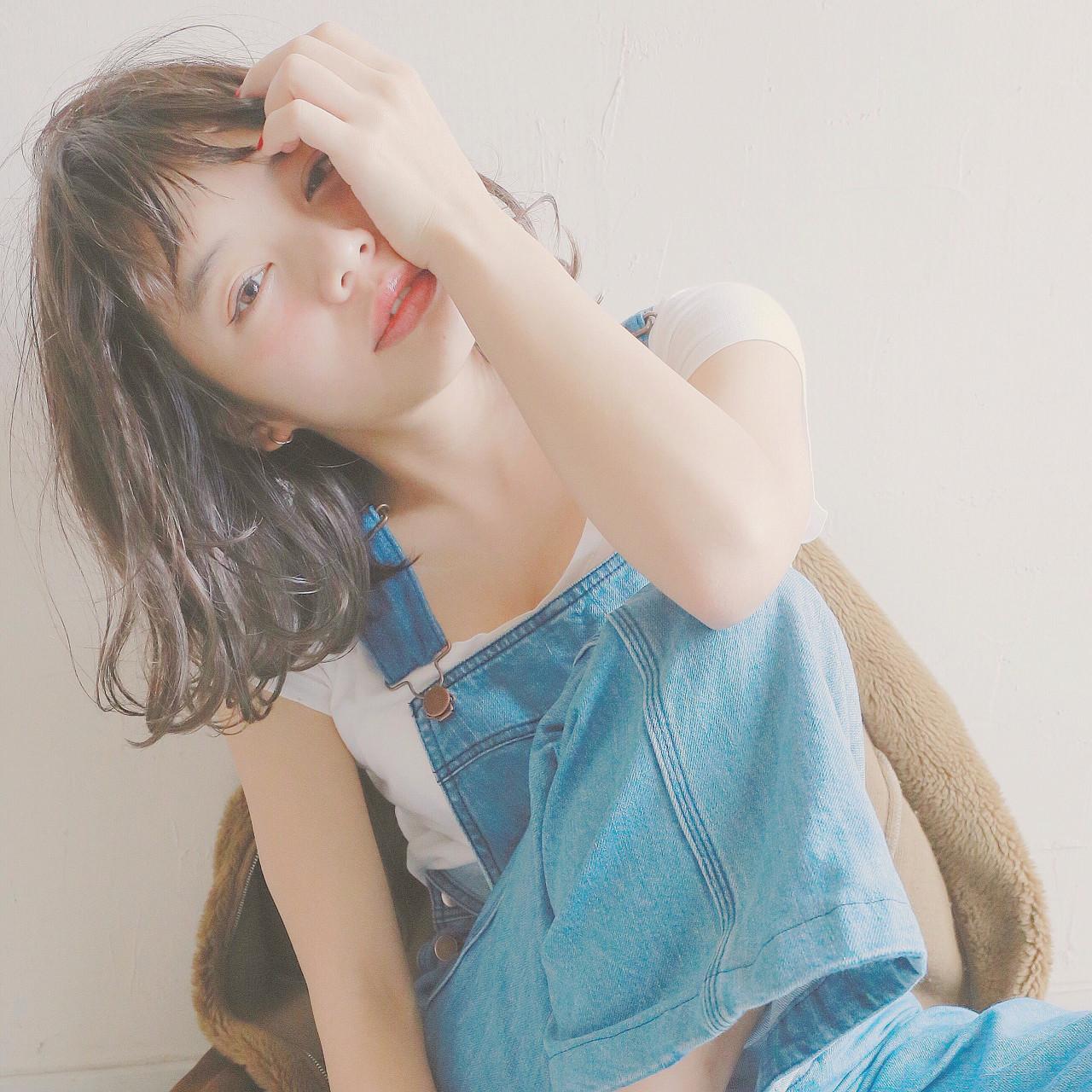 ベビーバング ナチュラル ミディアム 外国人風 ヘアスタイルや髪型の写真・画像 | 米澤 香央里 / SYAN