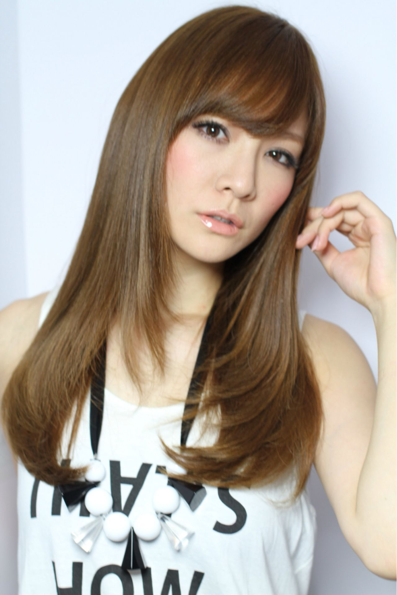 コンサバ ストレート ナチュラル ロング ヘアスタイルや髪型の写真・画像   Yusuke Miichi / cloe umeda