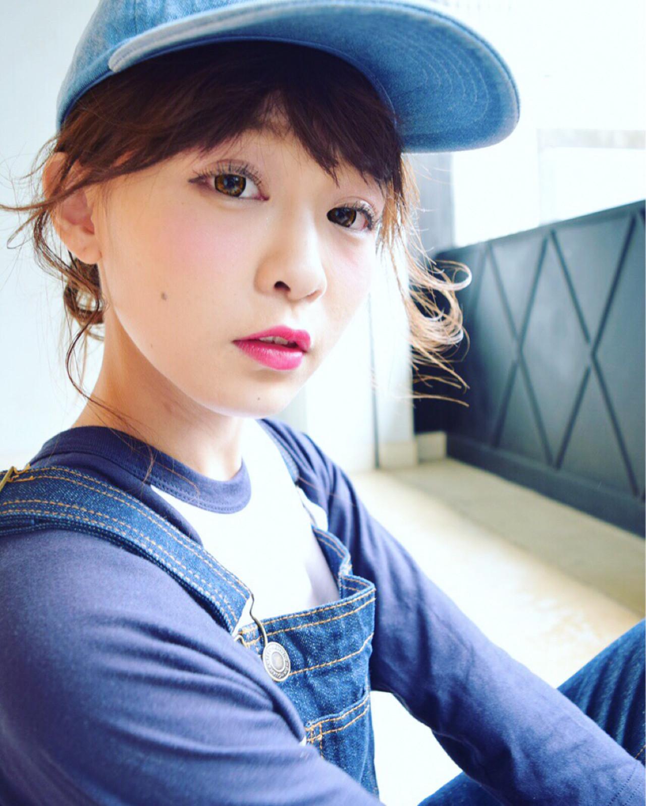 ショート ロング 簡単ヘアアレンジ ガーリーヘアスタイルや髪型の写真・画像