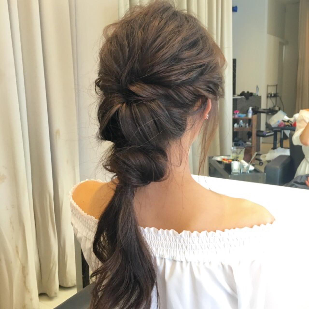 ショート ロング アッシュ ヘアアレンジ ヘアスタイルや髪型の写真・画像 | hiroki / Lien