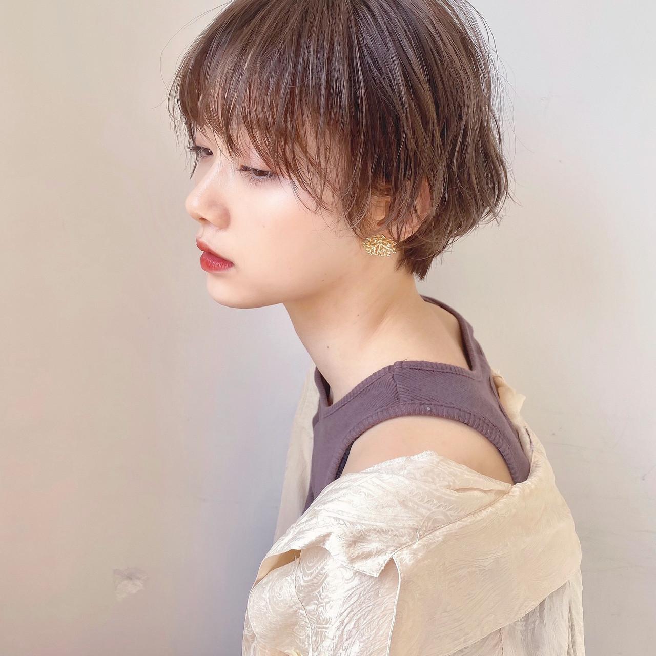ショート ショートボブ ミニボブ 切りっぱなしボブ ヘアスタイルや髪型の写真・画像 | ウキタ / GOTODAYSHAiRESALON