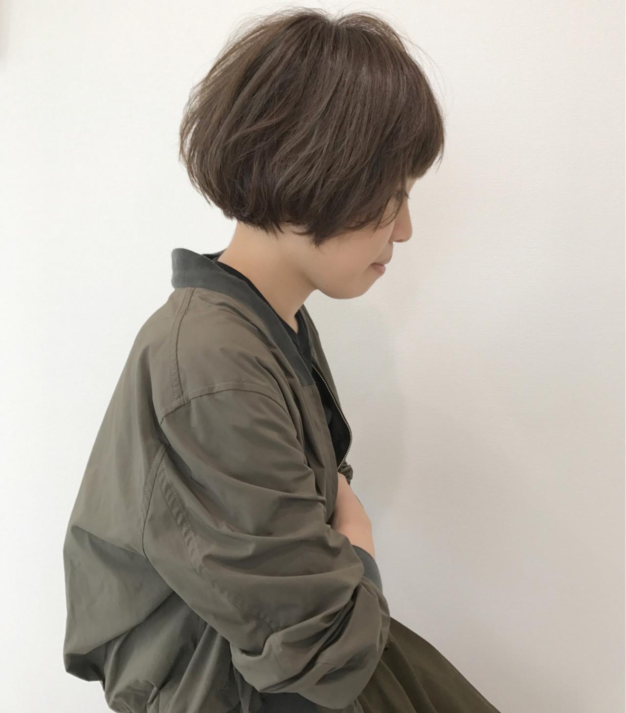 ショートボブ ゆるふわ 大人かわいい フェミニン ヘアスタイルや髪型の写真・画像 | YellowBear / YellowBear