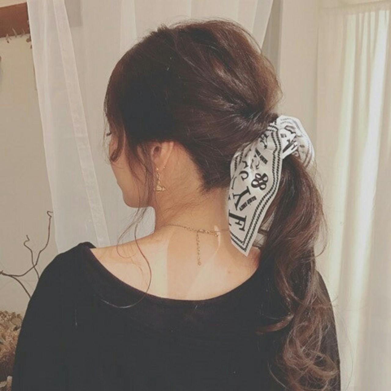ポニーテール ヘアアレンジ ロング 大人かわいい ヘアスタイルや髪型の写真・画像 | 浦川由起江 / nanon