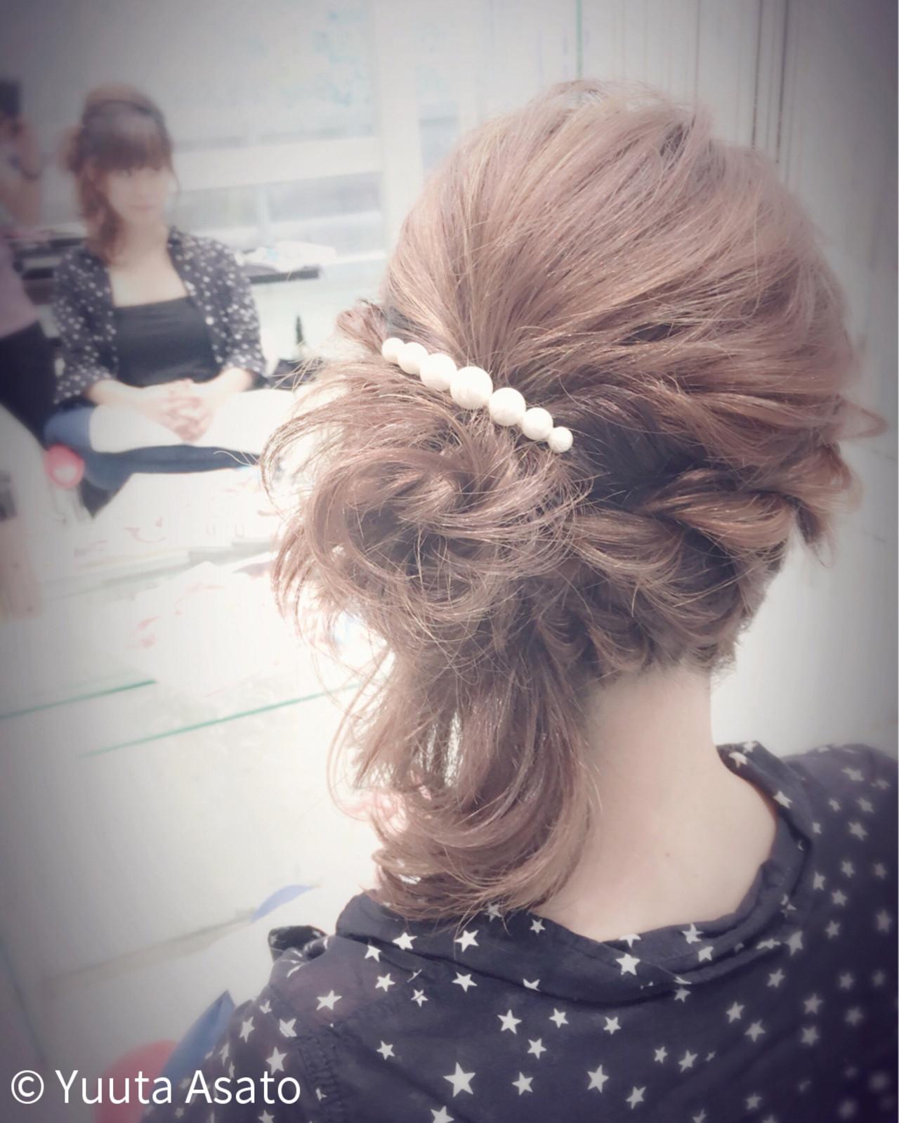 ショート 大人かわいい 外国人風 簡単ヘアアレンジ ヘアスタイルや髪型の写真・画像 | Yuuta Asato / Moana by HEADLIGHT 沖縄東崎店