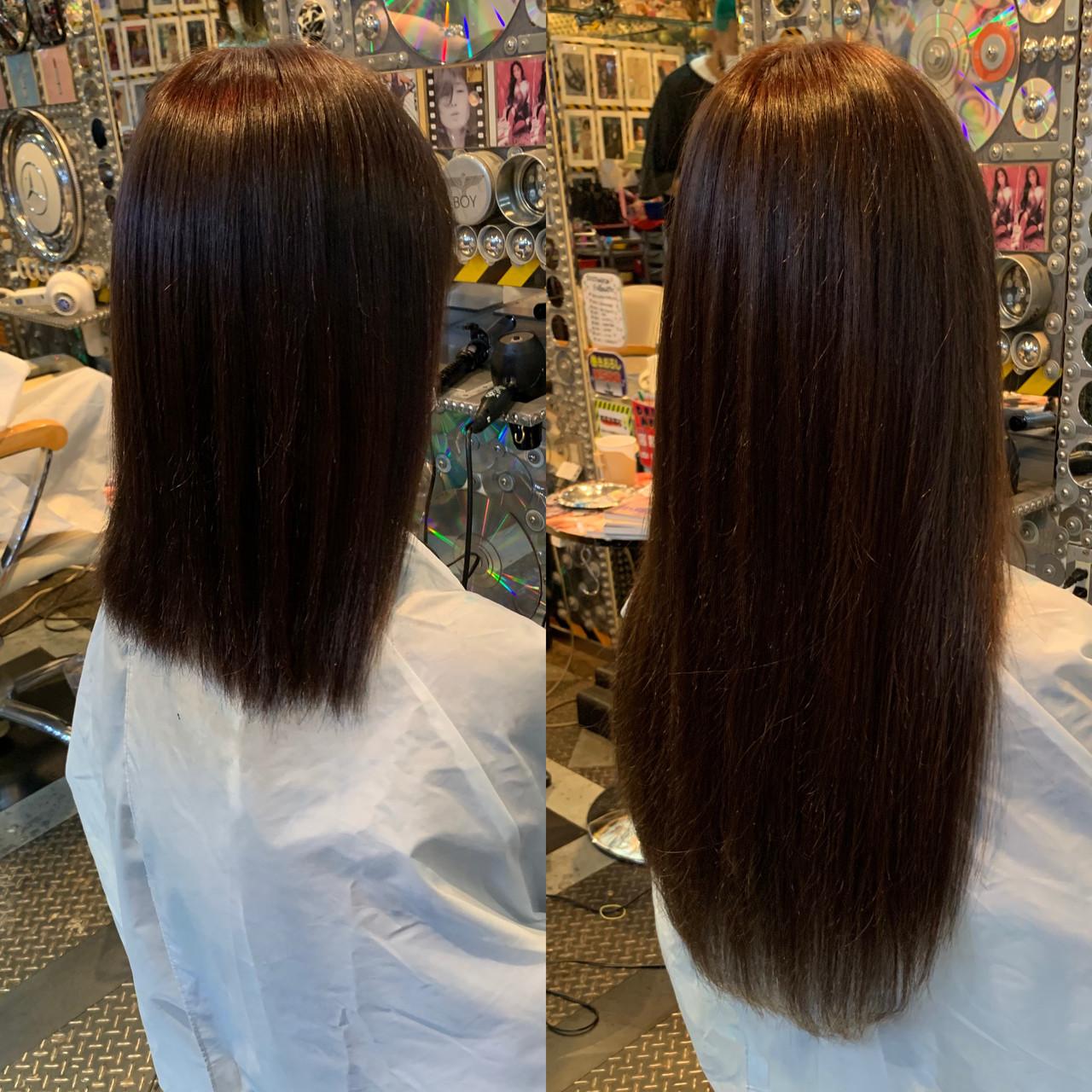 ロングヘア 編み込み ロング ロブ ヘアスタイルや髪型の写真・画像