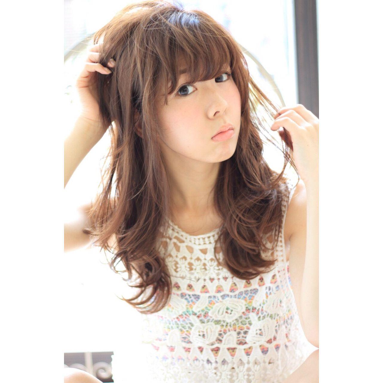 ナチュラル モテ髪 フェミニン ロング ヘアスタイルや髪型の写真・画像 | 久保田 成美 /