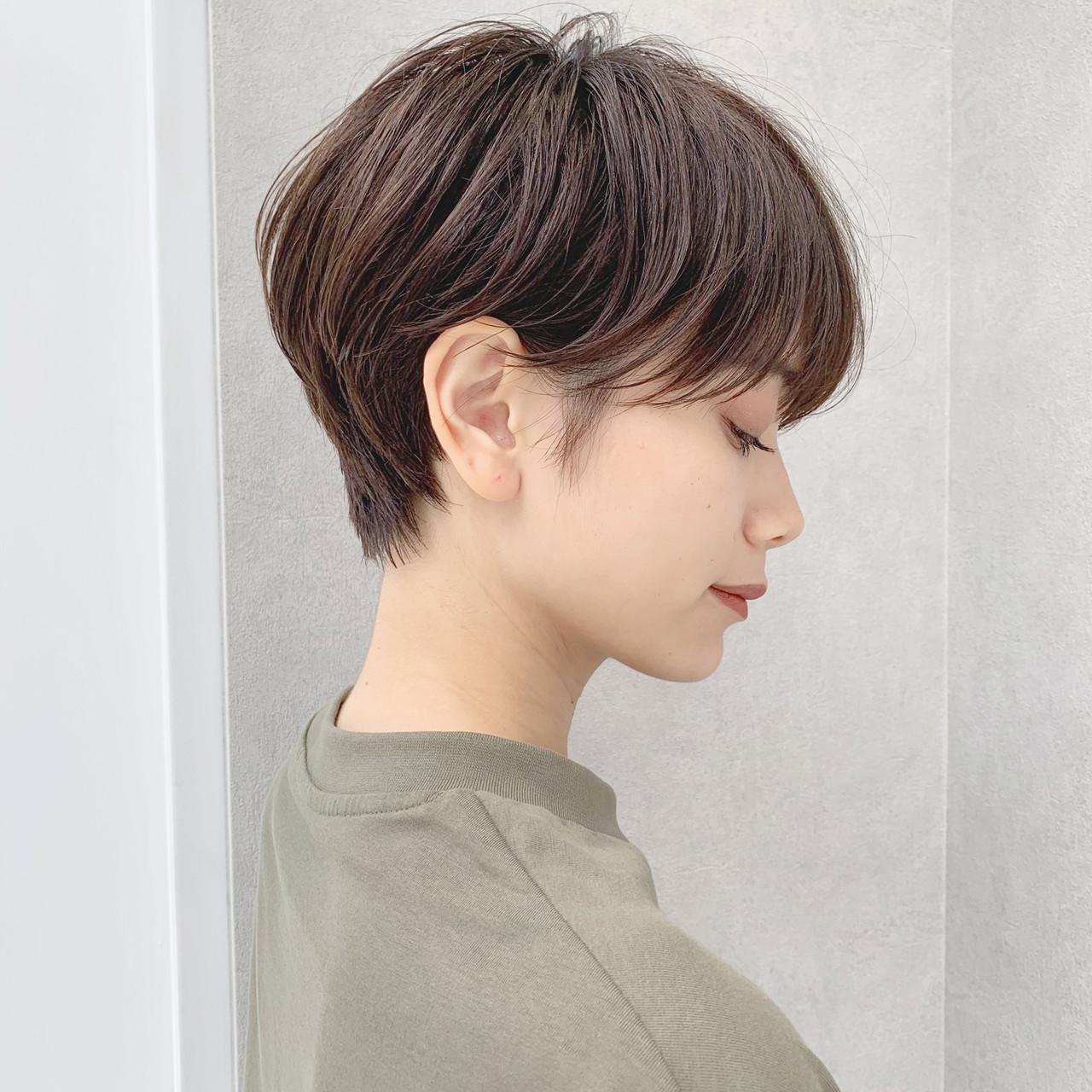 オフィス ショート パーマ デート ヘアスタイルや髪型の写真・画像 | ショートヘア美容師 #ナカイヒロキ / 『send by HAIR』