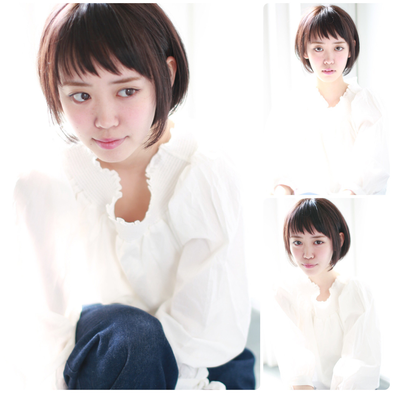 グレージュ イルミナカラー ナチュラル ショート ヘアスタイルや髪型の写真・画像 | イマムラ スナオ / LUKE