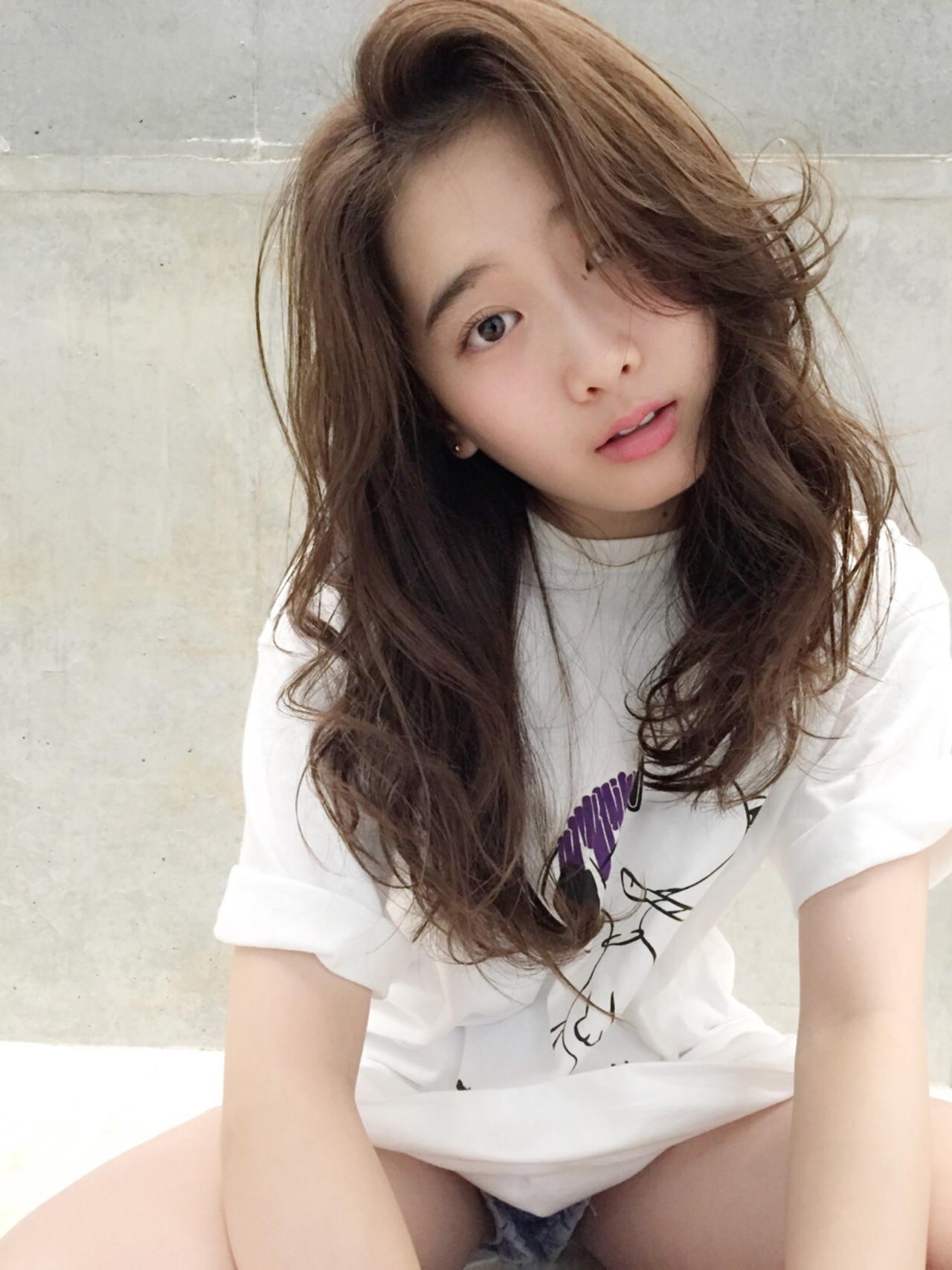 ロング パーマ ストリート 前髪あり ヘアスタイルや髪型の写真・画像 | 園田 雄史(YUSHI) / Cocoon