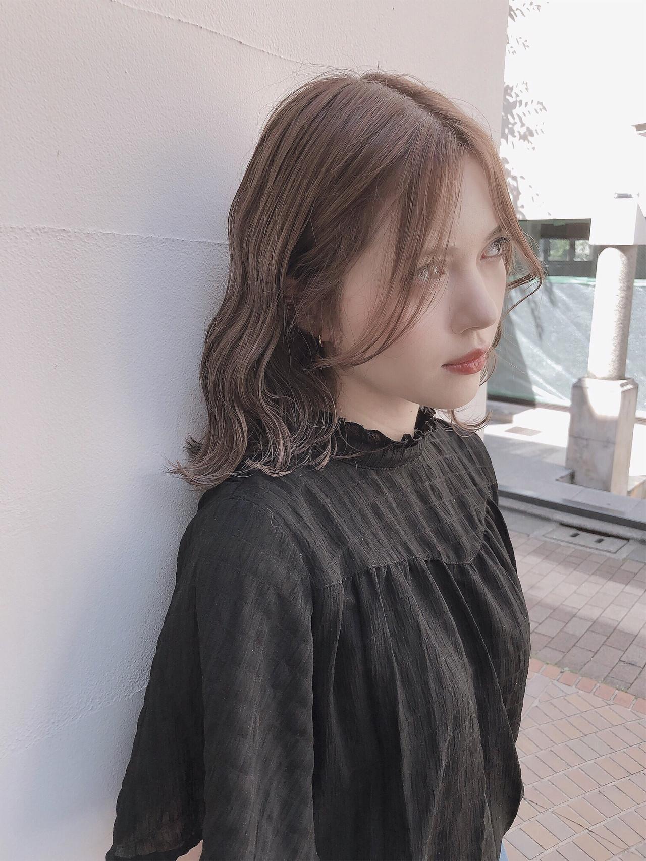 アッシュグレージュ ミルクティーベージュ ボブ オリーブベージュ ヘアスタイルや髪型の写真・画像 | 川端康平 / SHION 原宿