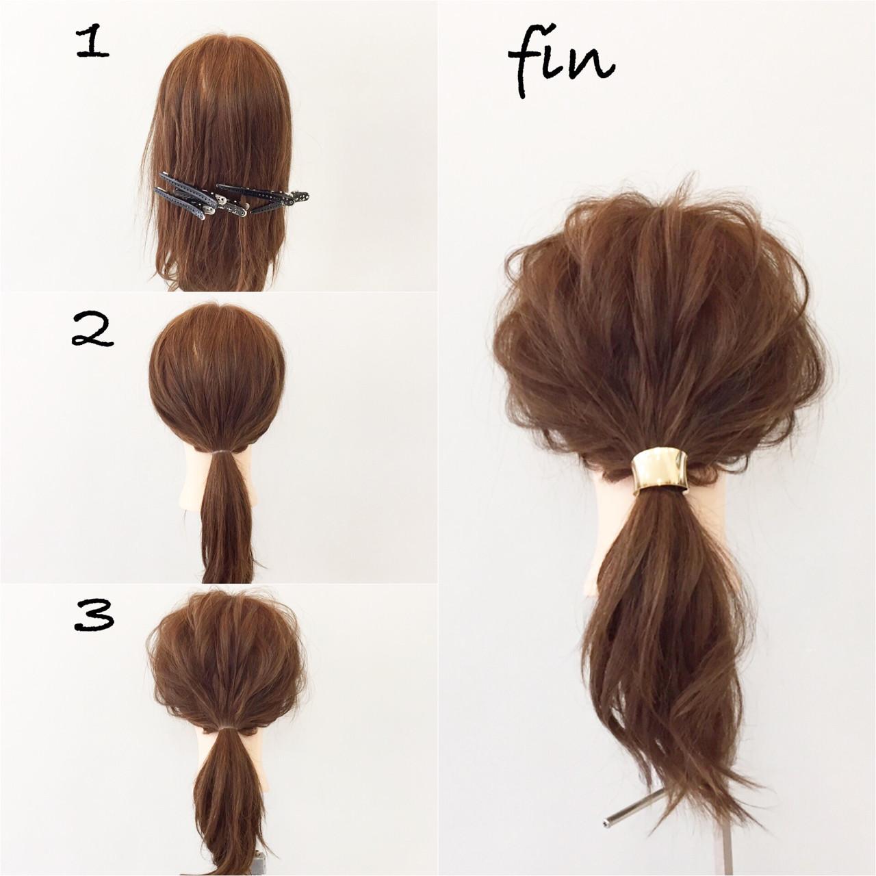 ナチュラル ミディアム 大人女子 簡単ヘアアレンジ ヘアスタイルや髪型の写真・画像 | 新谷 朋宏 / sorte