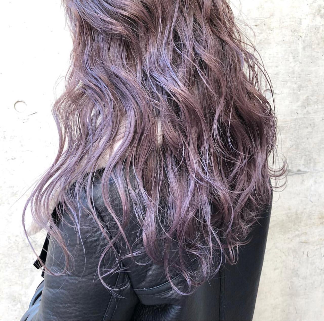 ラベンダーアッシュ ラベンダー ロング 外国人風カラー ヘアスタイルや髪型の写真・画像 | AKANE / LOGUE