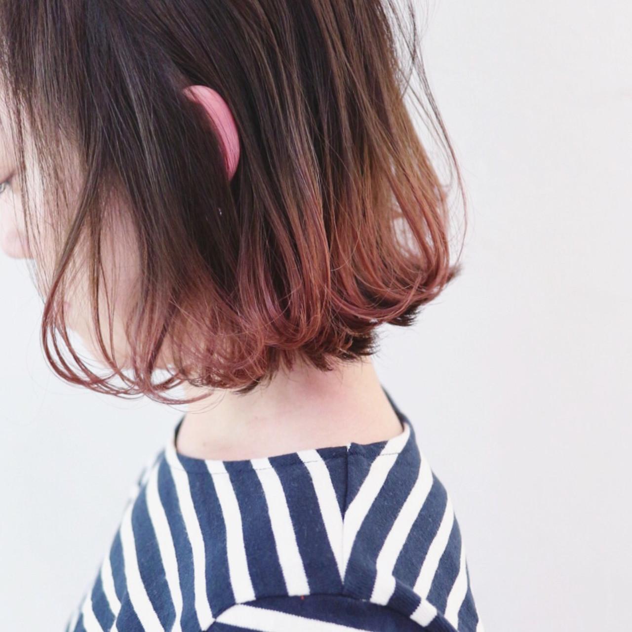 アンニュイほつれヘア ストリート グラデーションカラー パーマ ヘアスタイルや髪型の写真・画像 | 三好 佳奈美 / Baco.(バコ)