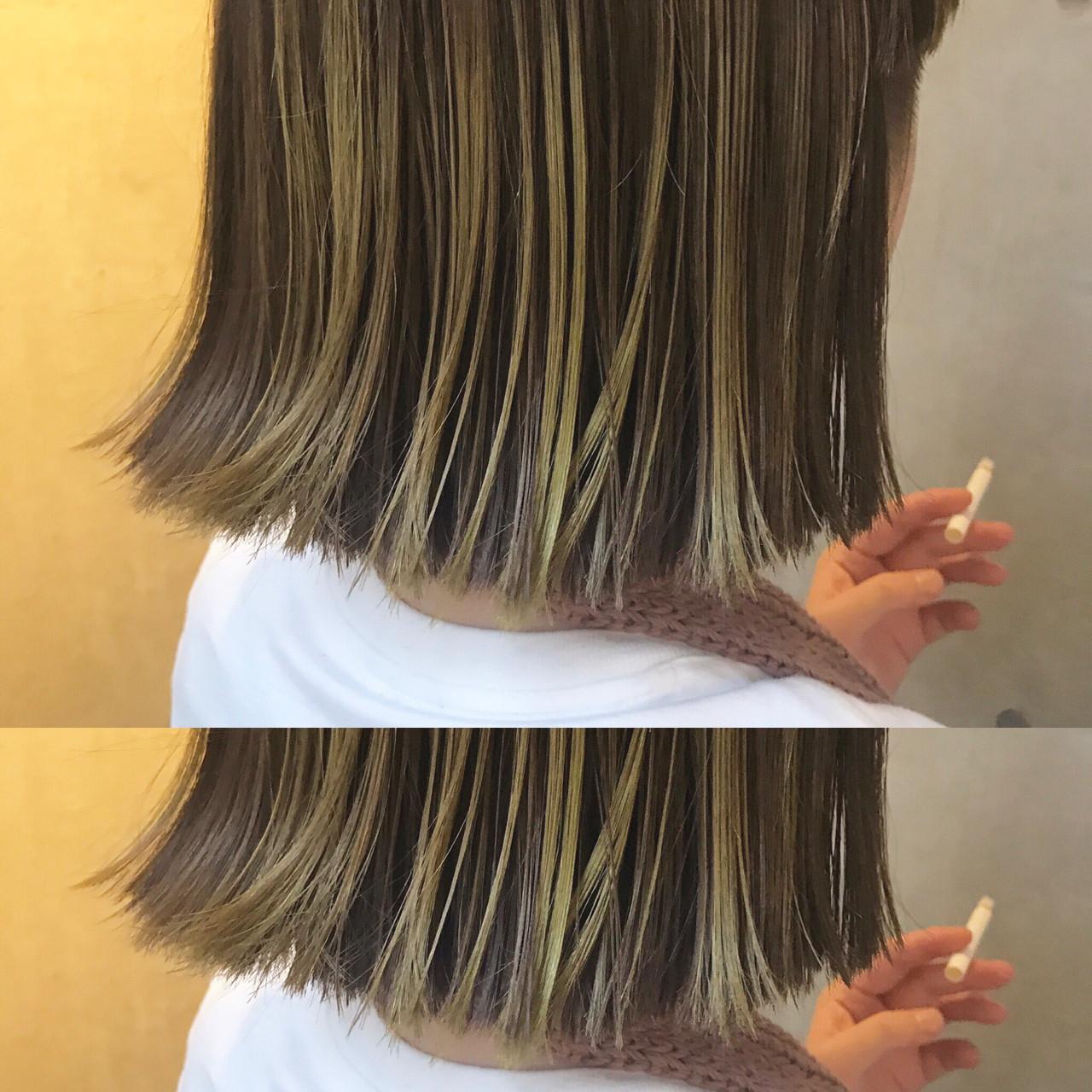 小顔 アッシュ 色気 ハイライト ヘアスタイルや髪型の写真・画像 | bibito crew / bibito