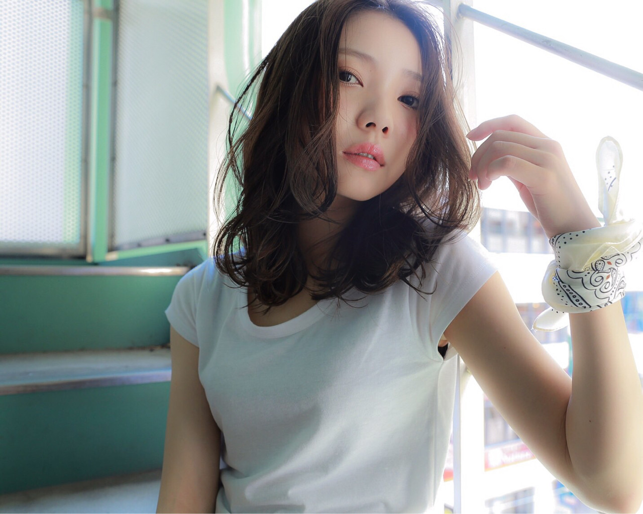 暗髪 アッシュ 外国人風 ストリート ヘアスタイルや髪型の写真・画像 | Rina Otani /