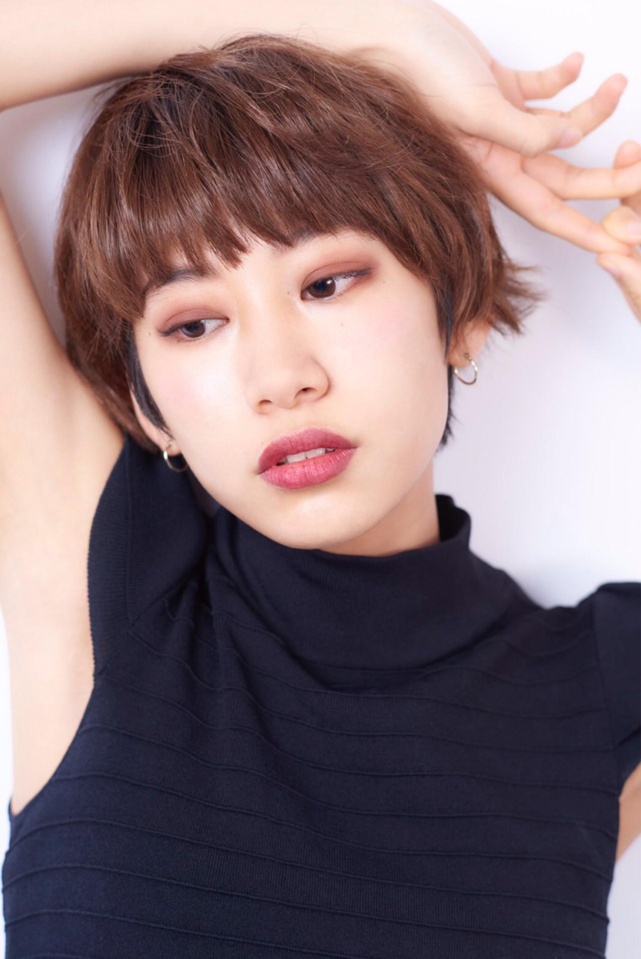 似合わせ ナチュラル 小顔 ヘアアレンジ ヘアスタイルや髪型の写真・画像 | Karin /