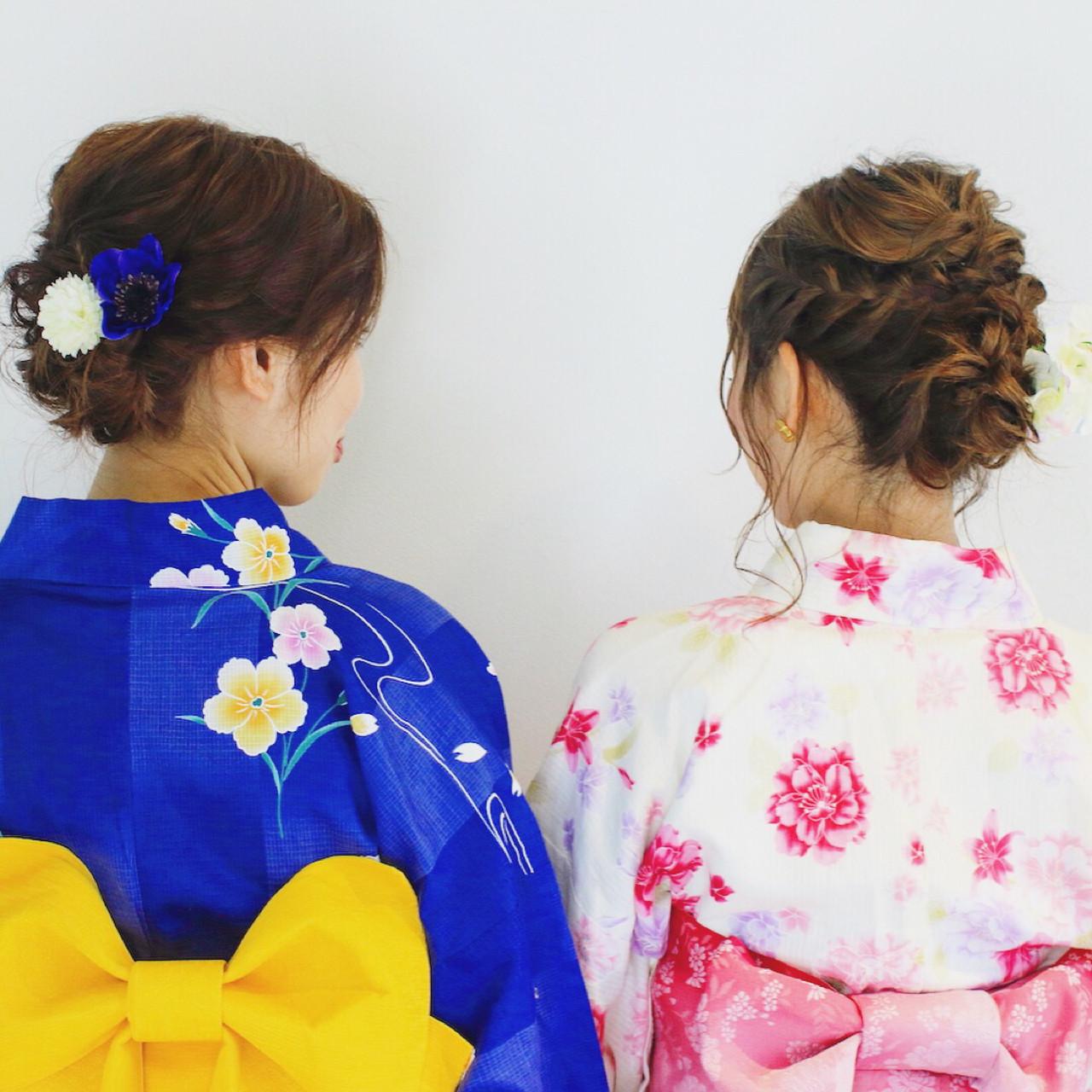 お祭り ヘアアレンジ 花火大会 フェミニン ヘアスタイルや髪型の写真・画像 | 美容師HIRO/Amoute代表 / Amoute/アムティ