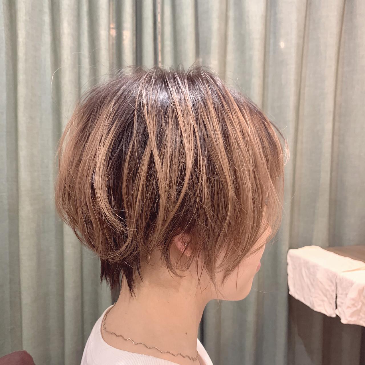 ショートヘア ミニボブ ショートボブ ショートヘアスタイルや髪型の写真・画像