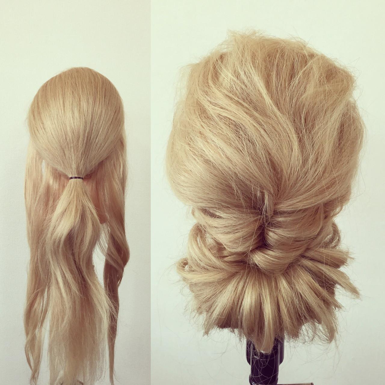 大人かわいい 簡単ヘアアレンジ ショート ギブソンタック ヘアスタイルや髪型の写真・画像 | 佐藤 允美 / Hair Space  ACT  LOCALLY(アクトローカリー)