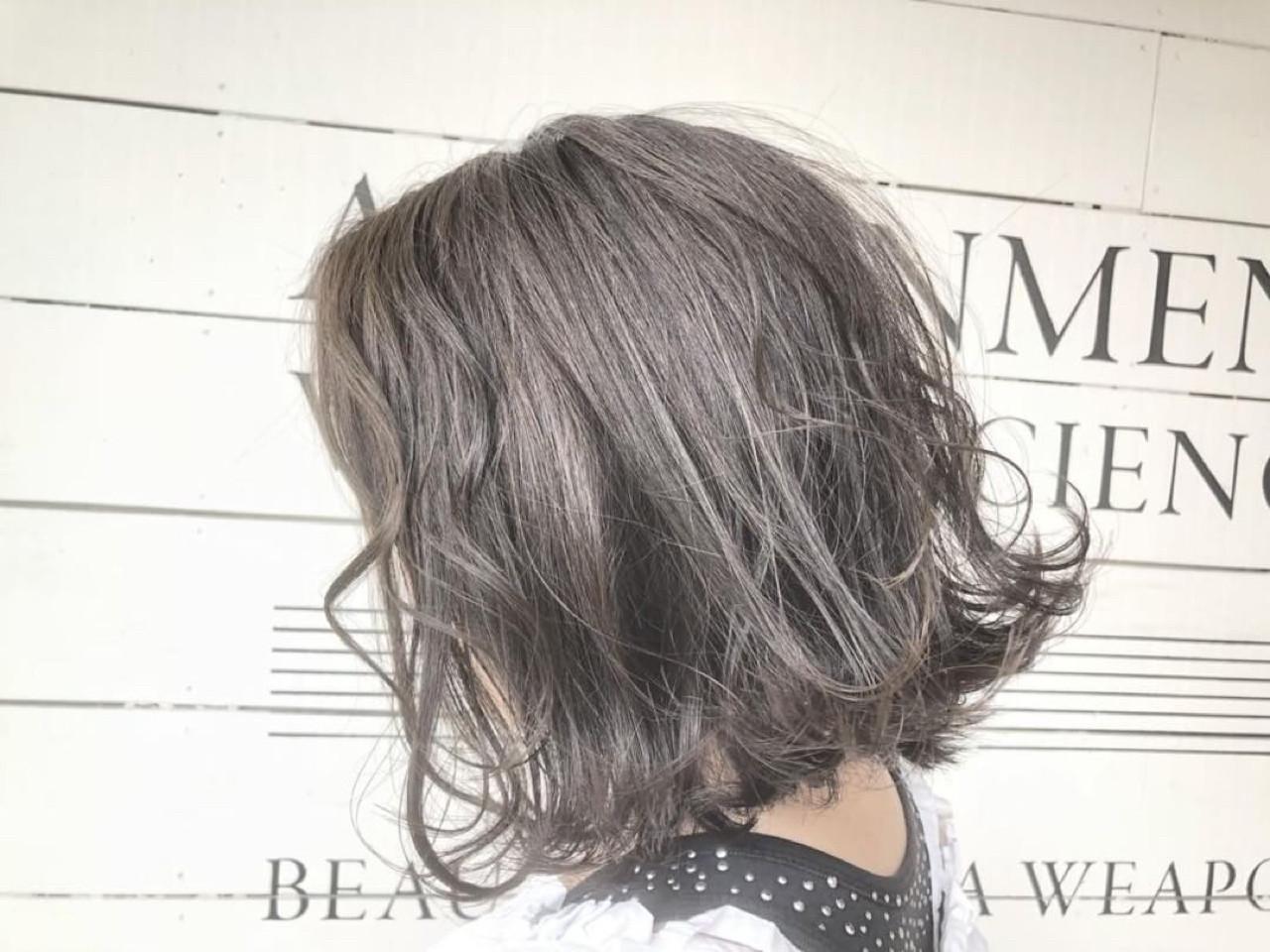 ヘアアレンジ ナチュラル 透明感 ボブヘアスタイルや髪型の写真・画像