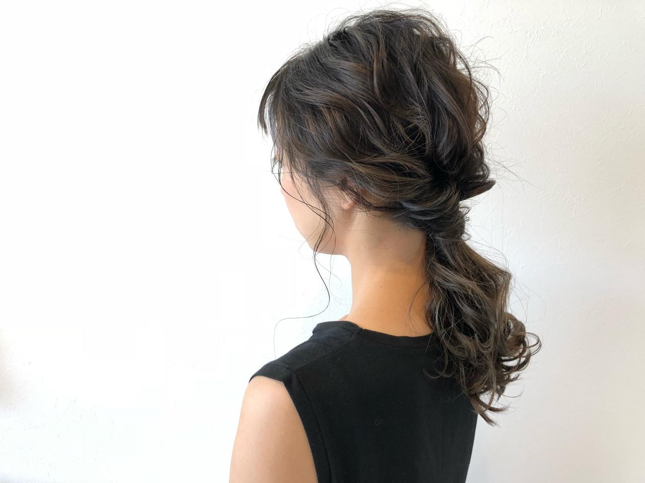 抜け感 前髪あり フェミニン ヘアアレンジ ヘアスタイルや髪型の写真・画像 | 宇渡 裕一 / Lillie hair&spa