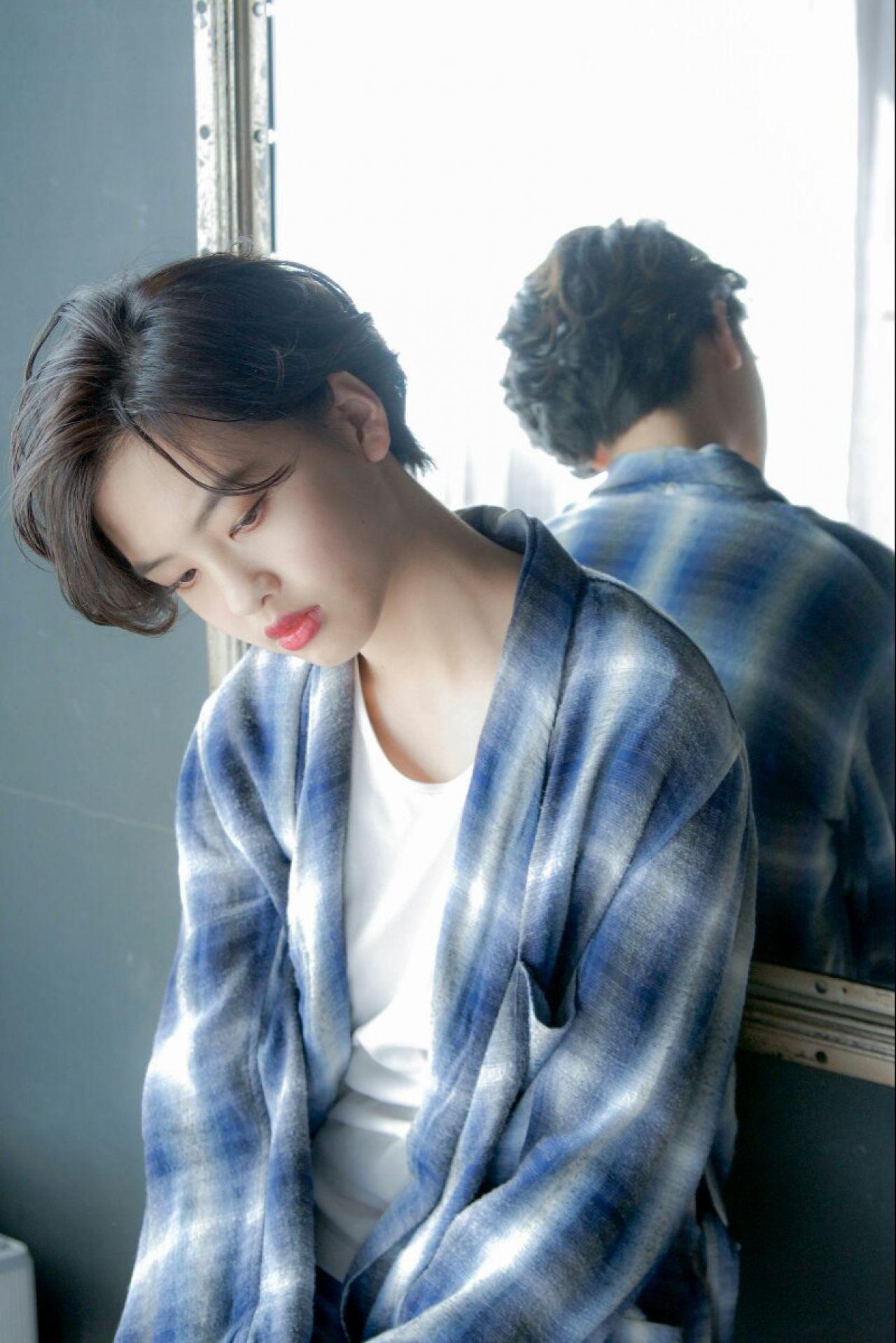 知らなかった?実はオンナ度が高い、魅惑の黒髪ベリーショート♡ 淀川 純