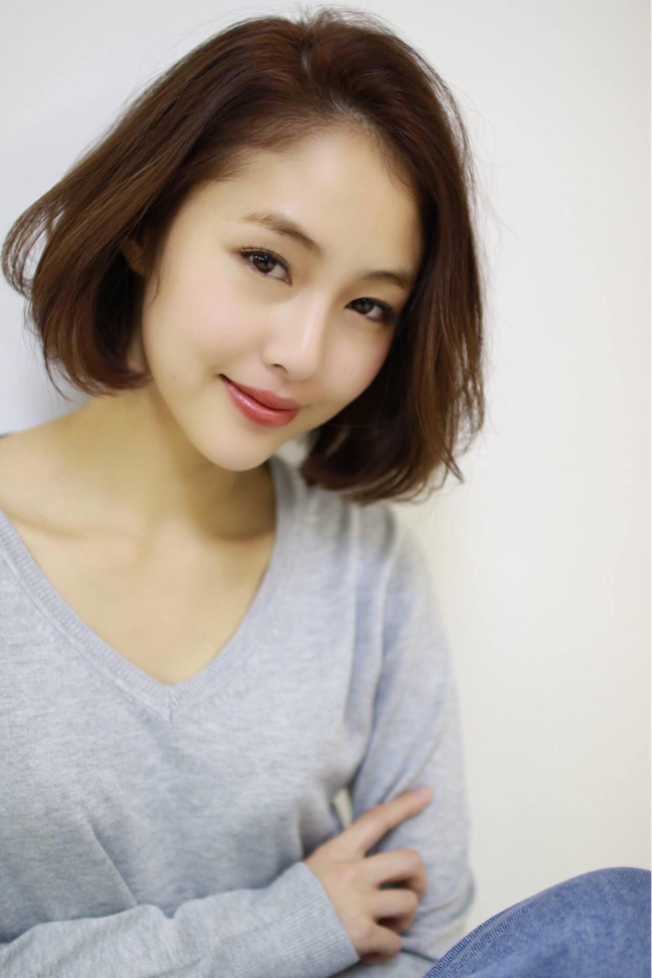 ナチュラル 小顔 大人女子 色気 ヘアスタイルや髪型の写真・画像   大柳 浩輝 / 美容室CINQ