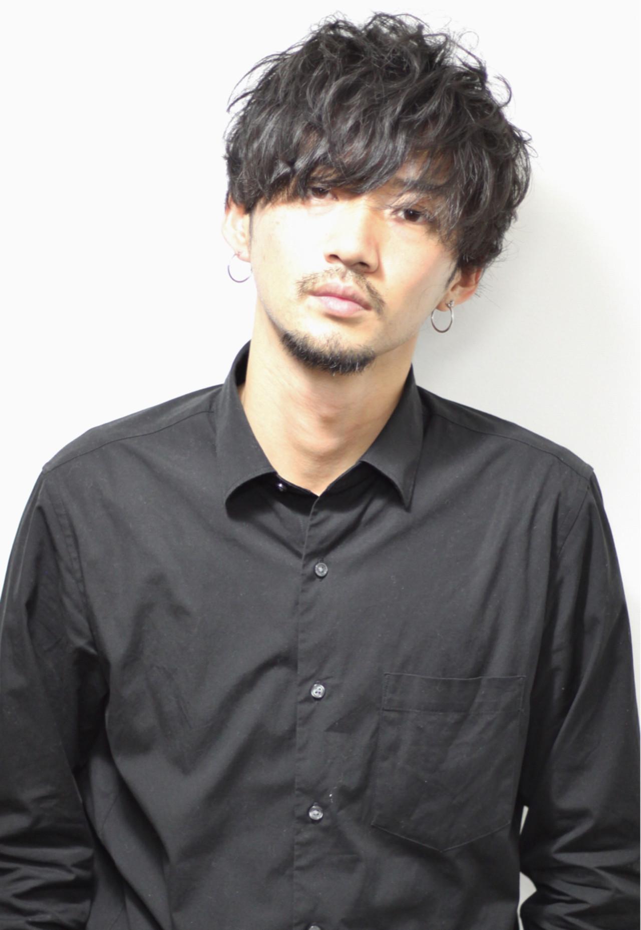 前髪あり ミディアム デート ストリート ヘアスタイルや髪型の写真・画像 | Souichrou Kakisaka / FRANK'S BARBERandBEERCLUB