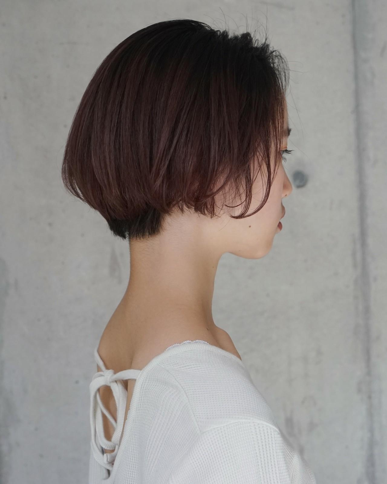 ボブ 小顔 女子力 色気ヘアスタイルや髪型の写真・画像