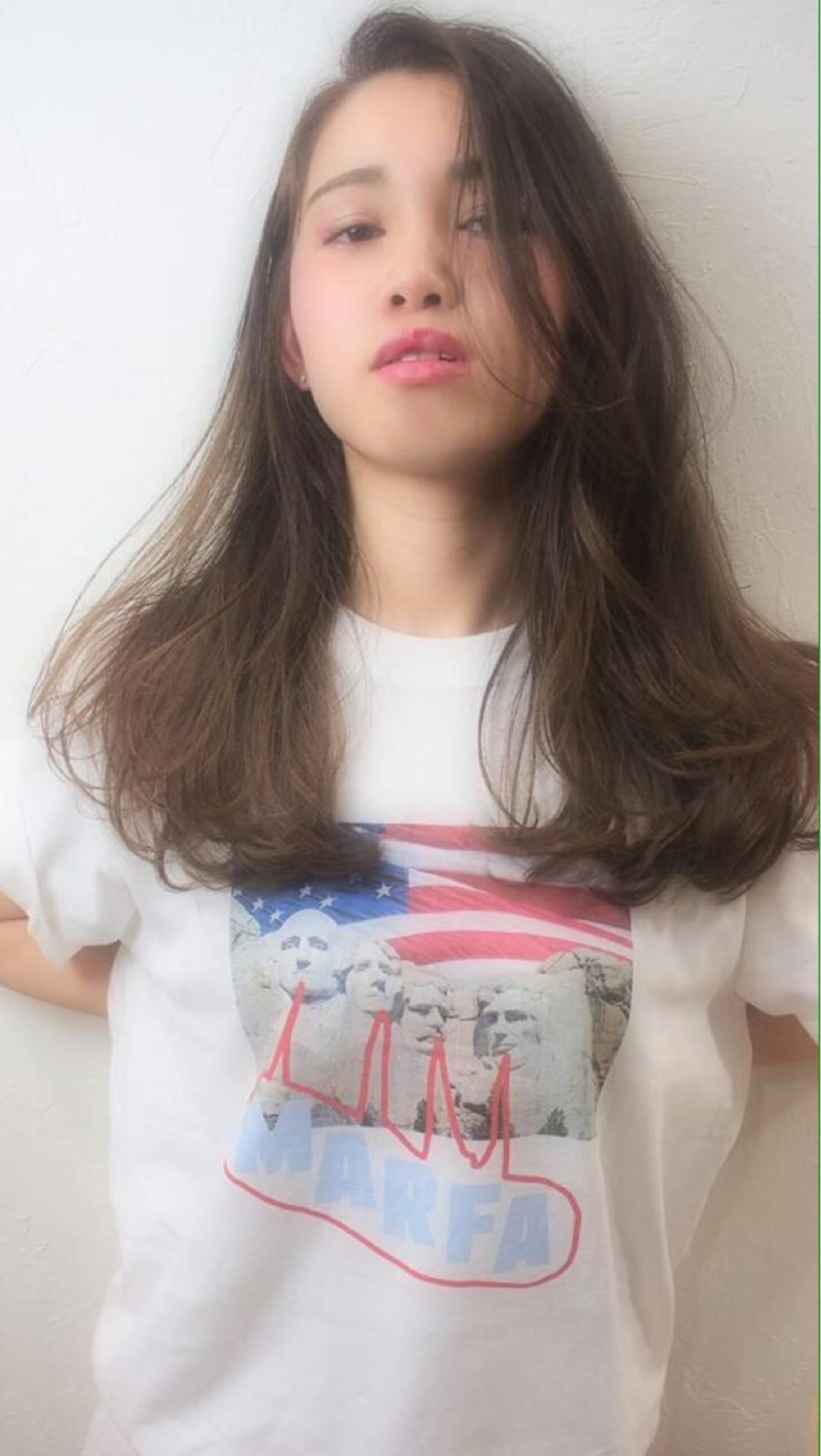 ロング 外国人風 ストリート ハイライト ヘアスタイルや髪型の写真・画像 | RIHO /