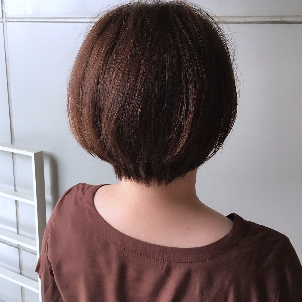 ナチュラル ピンクブラウン ショート ショートボブ ヘアスタイルや髪型の写真・画像 | Yumi Hiramatsu / Sourire Imaizumi【スーリール イマイズミ】