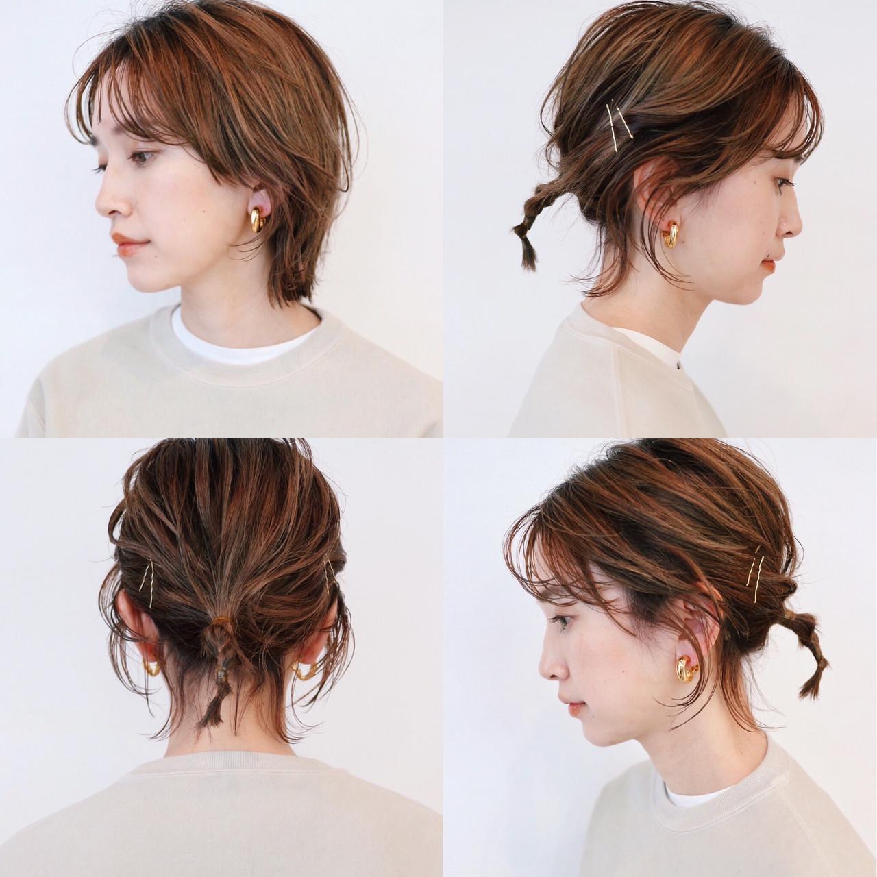 マッシュウルフ 簡単ヘアアレンジ ストリート ウルフカットヘアスタイルや髪型の写真・画像