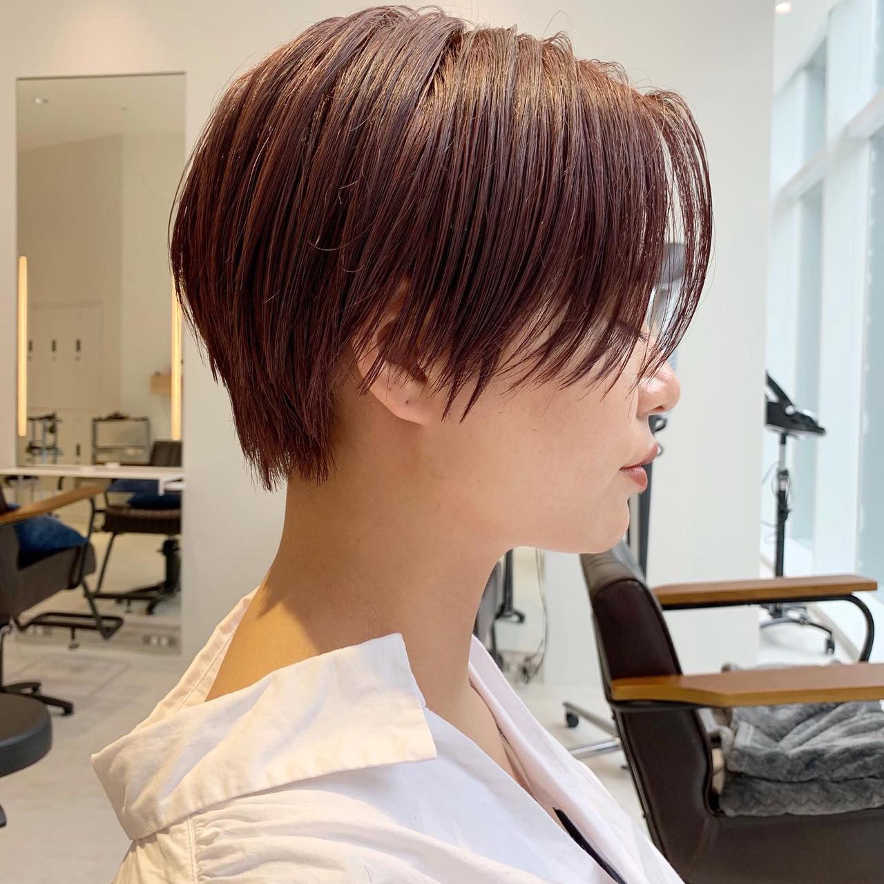 ショートボブ ショート モード アウトドア ヘアスタイルや髪型の写真・画像 | ショートヘア美容師 #ナカイヒロキ / 『send by HAIR』