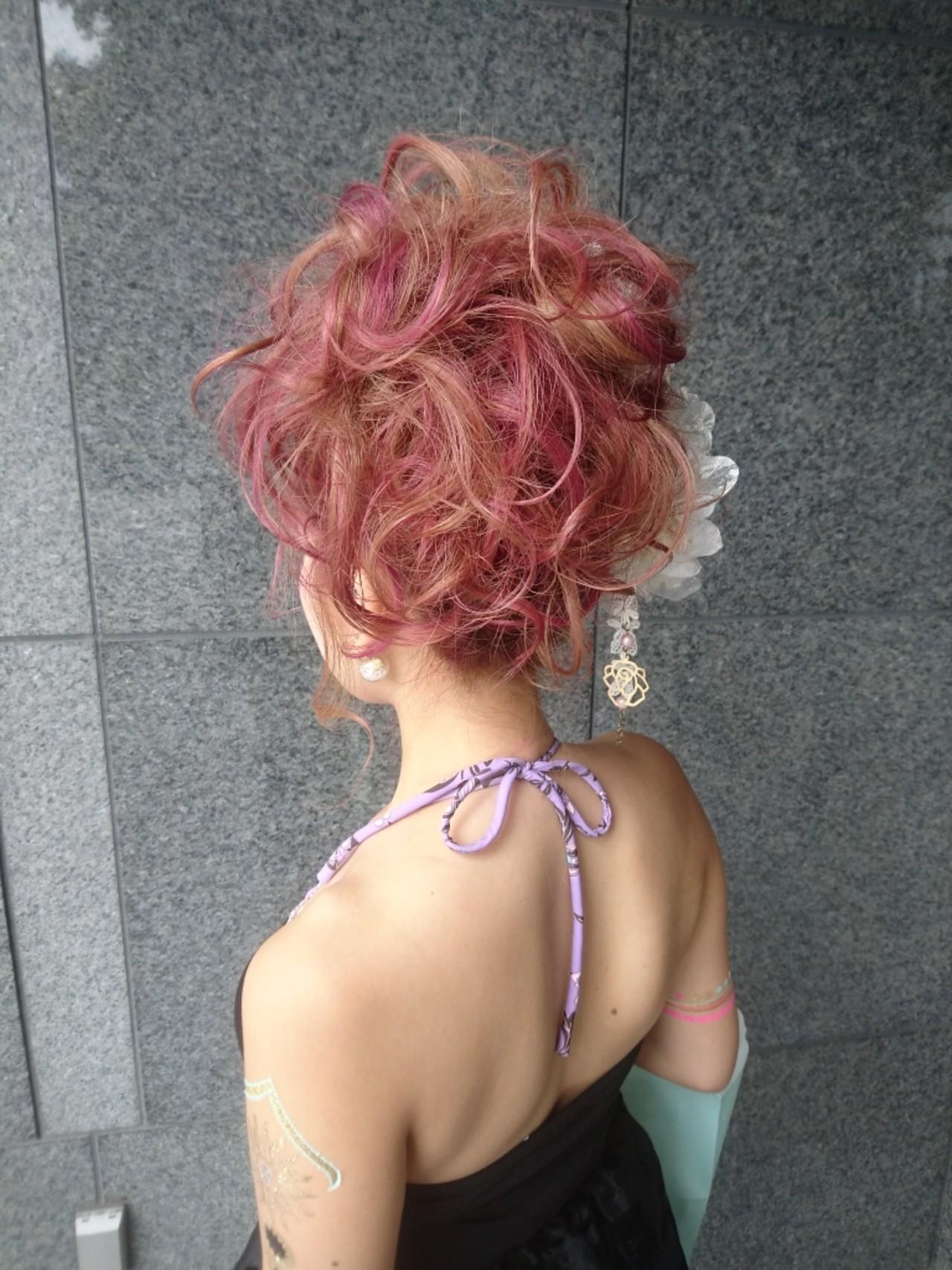 ヘアアレンジ 外国人風 パーティ エレガント ヘアスタイルや髪型の写真・画像   島田 和也 / total beauty house flap MICHI