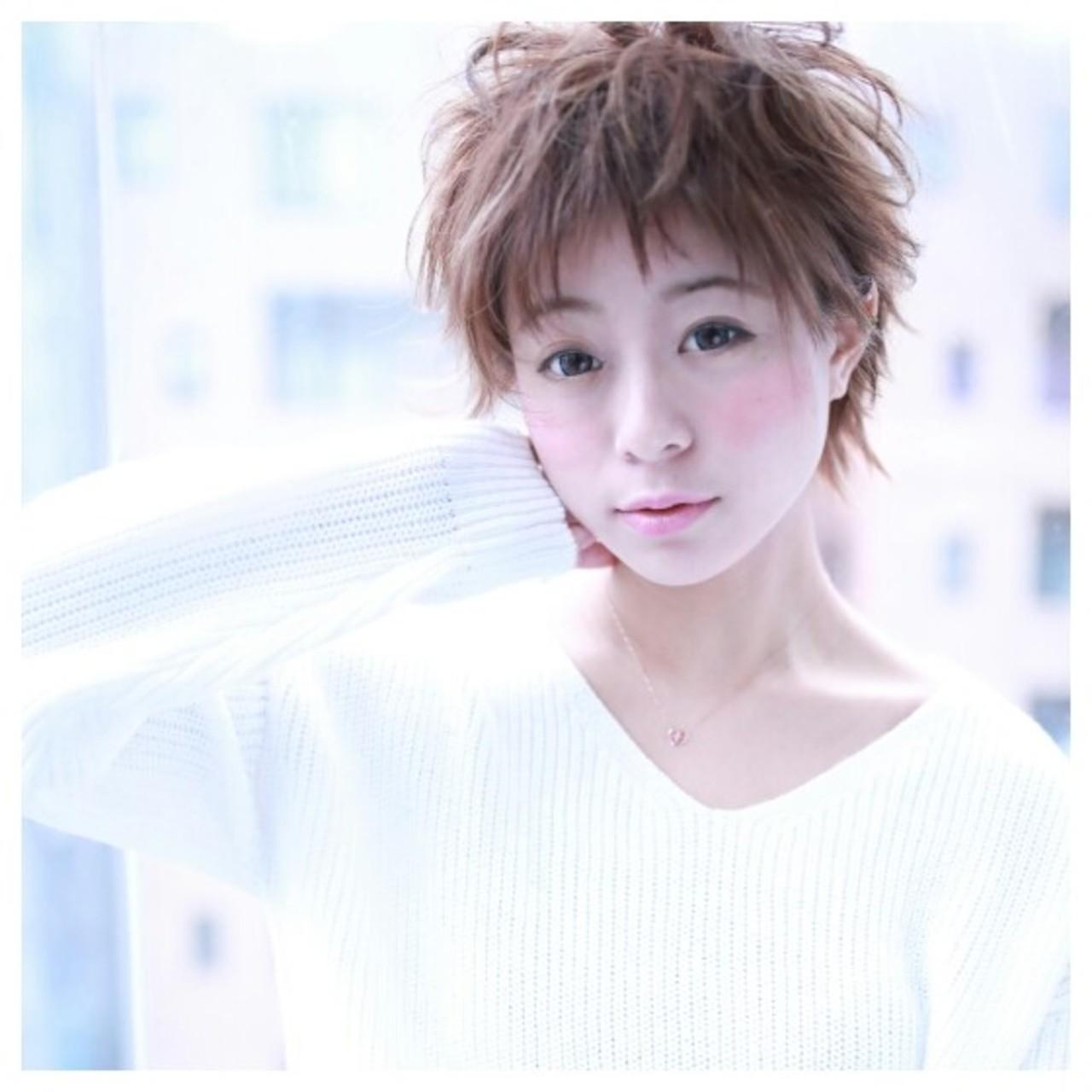 小顔 ショート ナチュラル 大人女子 ヘアスタイルや髪型の写真・画像   Cloud zero 池袋 / Cloud zero クラウドゼロ