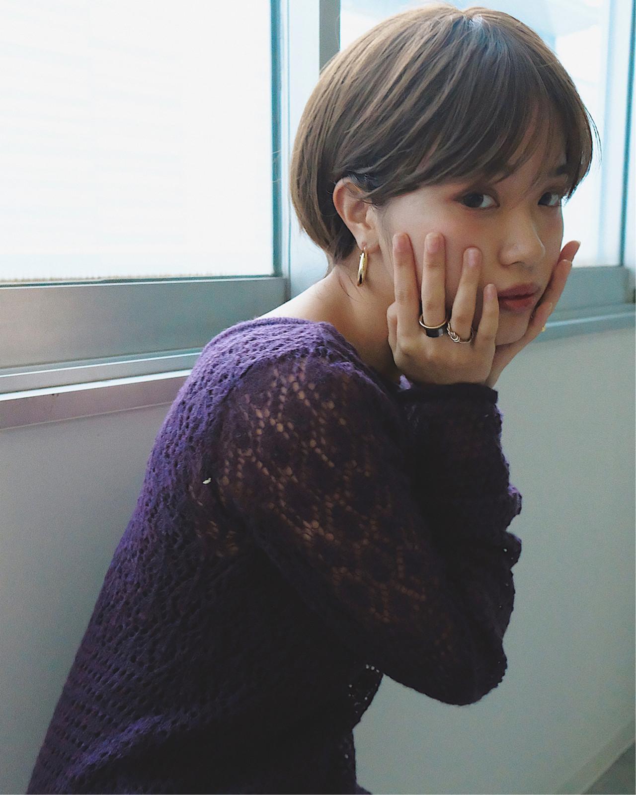 スポーツ ショート 大人かわいい デート ヘアスタイルや髪型の写真・画像 | YUJI / LIICHI / LIICHI (リイチ)